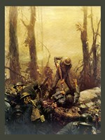 Framed Mural Forest Marines
