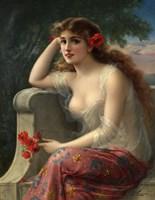 Framed Girl With A Poppy