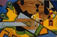 Framed Still Life With A Guitar