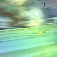 Framed Aqua Dunes