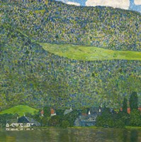 Framed Litzlberg on Lake Attersee, Austria. 1915
