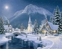 Framed Christmas Village