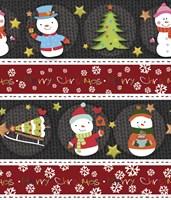 Framed Snowman Knit
