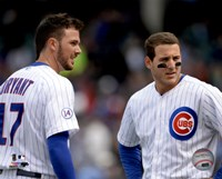 Framed Kris Bryant & Anthony Rizzo 2015 Action