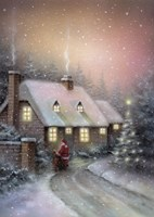 Framed Santa's Misty Arrival