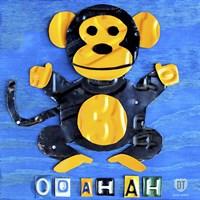 Framed Oo Ah Ah The Monkey