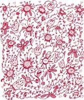 Framed Playful Pink Flowers