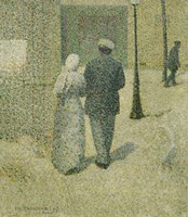 Framed Couple In The Street, 1887