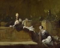 Framed Court Scene