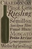 Framed White White Wine Bottle