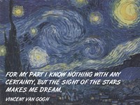 Framed Sight of the Stars - Van Gogh Quote