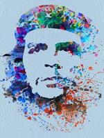 Framed Che Guevara Watercolor
