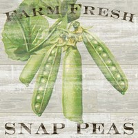 Framed Farm Fresh Peas