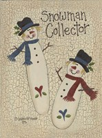 Framed Snowman Collector