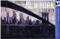 Framed NY State Of Mind Gray
