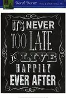 Framed Chalkboard - Happily Ever After