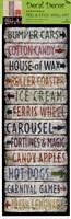Framed Vintage Signs - Amusements I