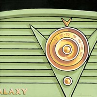 Framed Galaxy Radio - Green