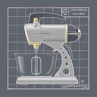 Framed Galaxy Mixer - Pewter