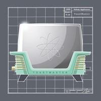 Framed Galaxy Toaster - Aqua
