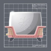 Framed Galaxy Toaster - Flamingo