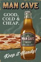 Framed Man Cave Beer