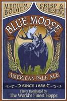 Framed Blue Moose Pale Ale