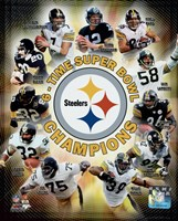 Framed Pittsburgh Steelers 6-Time Super Bowl Champions Composite