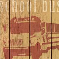 School Bus Framed Print