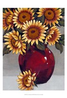 Framed Vase of Sunflowers II