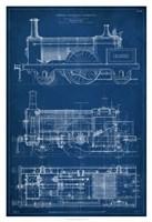 Framed Locomotive Blueprint I