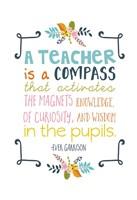 Framed Teacher Quote
