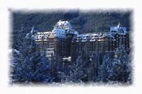 Framed Ski Resort in the Swiss Alps at Winter