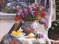 Framed Lilacs And Lemons