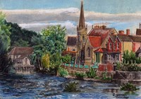 Framed Llangollen Methodist Church Wales UK