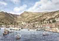 Framed Greek Seaport Town