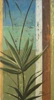 Framed Bamboo & Stripes I