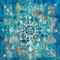 Framed Mandala in Blue I