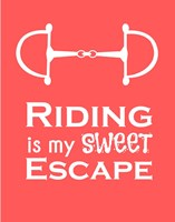 Framed Riding is My Sweet Escape - Orange