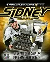 Framed Sidney Crosby 2016 NHL Conn Smythe Trophy Winner Portrait Plus