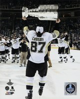 Framed Sidney Crosby with the Stanley Cup Game 6 of the 2016 Stanley Cup Finals