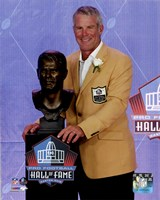 Framed Brett Favre 2016 NFL Hall of Fame Induction Ceremony