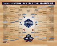 Framed Villanova Wildcats 2016 NCAA Men's Basketball National Champions Bracket