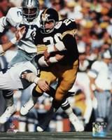 Framed Rocky Bleier Super Bowl X Action