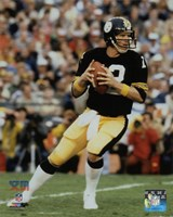 Framed Terry Bradshaw Super Bowl XIII Action