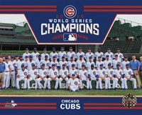 Framed Chicago Cubs 2016 World Series Champions Team Sit Down