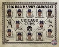 Framed Chicago Cubs 2016 World Series Champions Vintage Composite