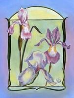 Framed Art Deco Irises