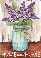Framed Lilacs Home Sweet Home Jar