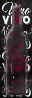 Framed Red Vino Words